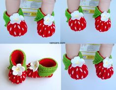 fresa Baby Booties, Baby Shoes, Knit Crochet, Slippers, Booty, Knitting, How To Make, Kids, Crafts