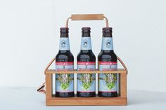 wooden 6 pack carrier.