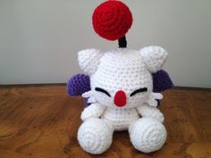 First pattern I made, ever! Haven't seen many moogle dolls based from FF9. Selling them in my Etsy shop: https://www.etsy.com/shop/STiRsItemShop
