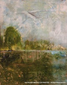 "5. Cold Wax Paintings ""Landscapes"" 