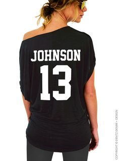 """Use coupon code """"pinterest"""" Custom Sports Jersey Back Print - Player Name-Number: Football Baseball Basketball Softball - Add-On Listing DON'T Purchase Individually by DentzDesign"""