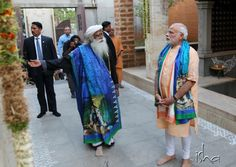 The shawl for Sadhguru & stole for PM Modi was especially designed by our team for Mahashivratri ....