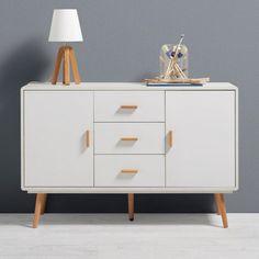 Kommode in Weiß mit Retro-Charme - ein Blickfang mit Stil für Ihr Heim Sideboard, Dresser, Cabinet, Living Room, Storage, Furniture, Home Decor, Manila, Modern Lounge