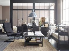 Having a daybed in your office - now that's a good idea.