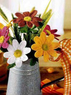Crochet Flower Bouquets