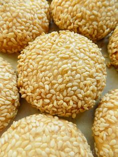 These sesame seed cookies are light, crunchy and melt in mouth! You should toast the sesame seeds for the best results. Easy & yummy!