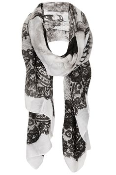 Topshop Lace and Jewel Skull Scarf, £18.