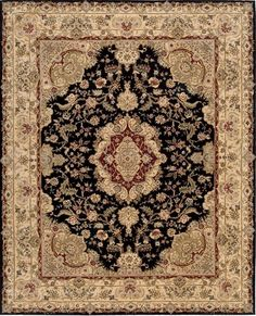 Black and Gold Persian Rug