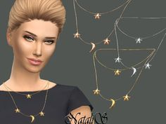 Space Jewelry Sets The Sims 4 _ - Clove share Asia The Sims, Sims Cc, Space Jewelry, Jewelry Sets, Sims 4 Piercings, Star And Moon Necklace, Sims 4 Gameplay, Sims 4 Cc Packs, Sims 4 Cc Finds