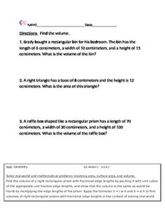 math worksheet : fractions 3nf 4nf 5nf 6rpa all fraction standards common core  : Sixth Grade Math Worksheets Geometry