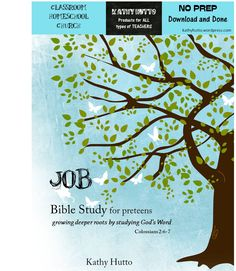 Bible Study for Preteens – Job - It takes just two week to complete or 10 meeting days for small groups! Each page includes word checks with definitions to aid in understanding. There are relevant and thoughtful questions throughout. In addition, there is a keepsake box to make during the study.  All you need is an empty cereal box! You print and tape the cover, included with this resource, to the box. List of suggested items to include in box each day that go with the lesson.