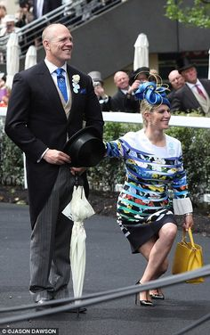The British Royal Family Attend Day One of Royal Ascot 2016: Mike and Zara Tindall