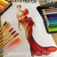 Fashion Design & Illustration by @paulkengillustrator