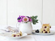 Auf der Mammilade|n-Seite des Lebens | Lifestyle Blog | Herbstblumenstrauß mit Nelken | Rezept | Rührkuchen mit Brombeeren | Blechkuchen