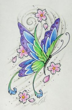 butterfly tattoo Butterfly Tattoo's butterfly tattoo Fantasy flowers with butterfly butterfly tattoo Feathered Butterfly butterfly tattoo Fr. Butterfly Drawing, Butterfly Tattoo Designs, Butterfly Wallpaper, Butterfly Design, Art Sketches, Art Drawings, Coloring Books, Coloring Pages, Butterfly Pictures