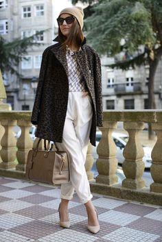 American Apparel pants, Paul & Joe shirt, Zara coat & shoes, Loewe bag, Marc by Marc Jacobs sunglasses.