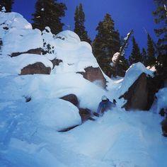 Woohoo 3rd bowl is open- some of the best inbounds skiing anywhere! : Ben Morello :Frank Konsella #thinksteepthoughts #skiing #skiingislife #ski #crestedbutte #colorado #coloradolife #visitgcb #3rdbowl #pillowskiing @lekiusa @smithoptics @honeystinger