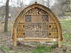 Idea for an insect hotel, possible location in front of school