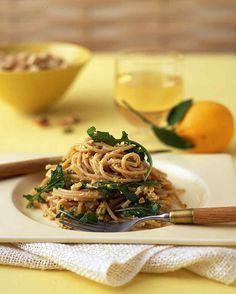 whole wheat spaghetti meyer lemon arugula