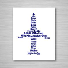 Phonetic Alphabet Airplane Printable Art - Digital Download Wall Art - Aviation Printable - 8x10 Airplane Art