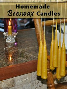 by contributing writer Jasmine I embarked on learning how to make beeswax candles after searching for an alternative to heavily scented commercial candles which would often leave me with a headache. Making Beeswax Candles, Votive Candles, Diy Candle Holders, Candlemaking, Honey Recipes, Christmas Candles, Craft Gifts, Diy Gifts, Burning Candle