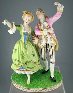 Dresden Porcelain Manufactory (Germany) — Group Tanz Modelled of a Lady and Gentleman. H:22  (547x700)