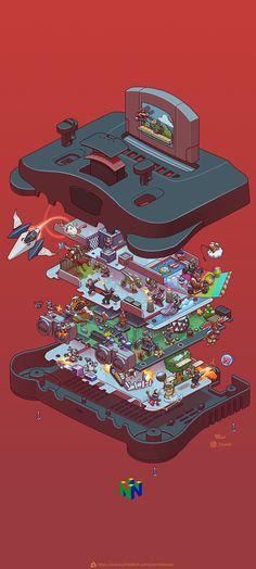 Classic Video Games, Retro Video Games, Video Game Art, Retro Games, Iphone Wallpaper Nintendo, Ulysse 31, Super Mario Art, Isometric Art, Stunning Wallpapers