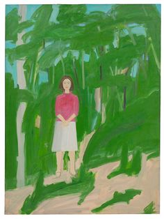 "Alex Katz, Ada in Woods. 1960. - pinned because its my kid's first pin (and its an art pin!)  She was sitting with me and told me to ""buy"" this one because the lady looks like me and is beautiful.  <3"