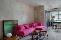 MM apartment: Salas de estar industriais por Studio ro+ca
