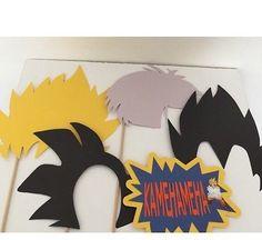 Las actividades, una muy buena para hacer en casa, son los letreros y antifaces de los personajes de Dragon Ball, (Aquí tendrías que hacerlo a mano alzada):