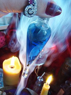 Luxury OiL POTiON  Magic  in glass blown by MysticArtsBoutique