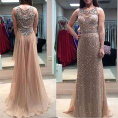 floor length prom dresses, see through prom dress, sparkly prom dress, long prom dress, elegant prom dress, prom dress 2017