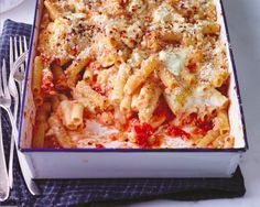 Make perfectly creamy baked ziti with some pro tips from chef Mario Batali. /arrabbiata-style