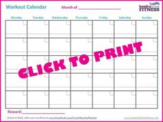 April Workout Calendar  Days Of Spring Fitness This April
