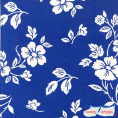 Blue and White Floral