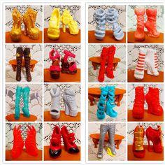 Sprzedaż 10 par/darmowa wysyłka moda buty dla monster lalki piękne buty na obcasie monster lalki sandały buty mieszane style buty