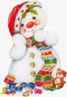 "Photo from album ""Клипарт - Рождество"" on Yandex. Christmas Canvas, Christmas Snowman, Christmas Holidays, Christmas Decorations, Christmas Ornaments, Snowman Clipart, Snowman Cards, Cute Snowman, Snowmen"