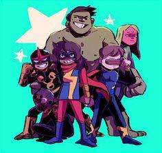 Marvel Memes, Marvel Avengers, Ms Marvel Kamala Khan, Arte Dc Comics, Young Avengers, Marvel Characters, Comic Character, Comic Art, Comic Books