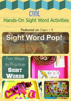 Capri + 3: Tons of Fun Sight Word Activities (and $500 Giveaway!)
