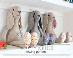 Stuffed animal pattern bunny rabbit instant download pdf