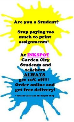 Did you know Students and Teachers ALWAYS get 10% off!  #inkspot #ink #printer #toner #gardencity #brisbane #sale #refill #canon #hp #brother #epson #shopping #retail #students #studentdiscount #sale #discount