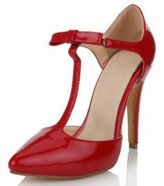 Honeystore Women's Dancer Heels Patent Leather Pumps