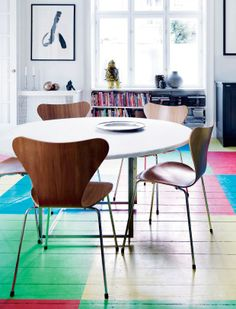 Art and color in a Danish home