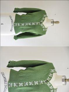 vintage 40s/50s cardigan/ vintage green sweater/ by seaofvintage