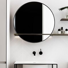 Bathroom, Interior, Furniture, Home Decor, Ideas, Round Mirrors, Decorating Bedrooms, Latest Trends, Home