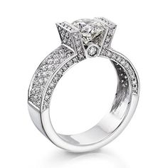 Diamond Engagement Ring in 18K Gold / White GIA Certified, Round, 1.71 Carat, E Color, SI1 Clarity - http://www.sofiasluxuryjewelry.com/jewelry/wedding-anniversary/engagement-rings/diamond-engagement-ring-in-18k-gold-white-gia-certified-round-171-carat-e-color-si1-clarity-com/