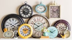 Time is on your side! Spring into warm weather with a shabby-gorgeous clock.
