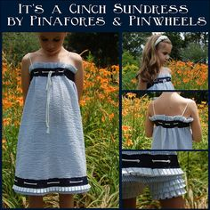 It's a Cinch dress by Pinafores & Pinwheels, Free   tutorial