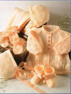 baby pram set matinee coat leggings bonnet hat mitts by Minihobo