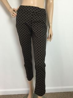 White House Black Market Slim Ankle Mosaic Print Career Pants Size 0 Regular | eBay